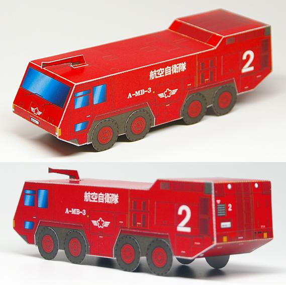 Maquetas 3D en papel de vehículos de policía y bomberos. Manualidades a Raudales.